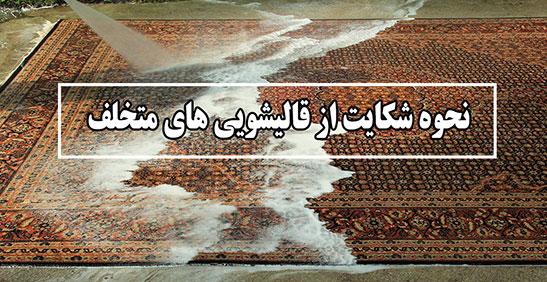 روش شکایت از قالیشویی های متخلف
